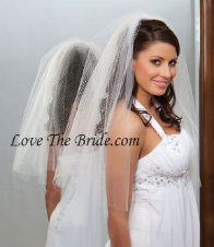 "20"" x 25"" Long Bridal Veil with French tulle"
