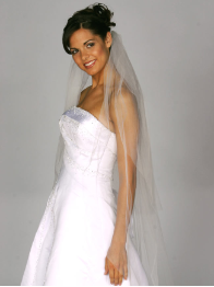 Two Tier Raw Edge Veil