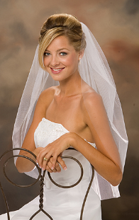 Raw cut edge Wedding Veil