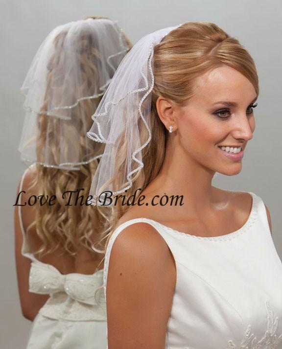 10 X15 Rhinestone Edge Wedding Veil